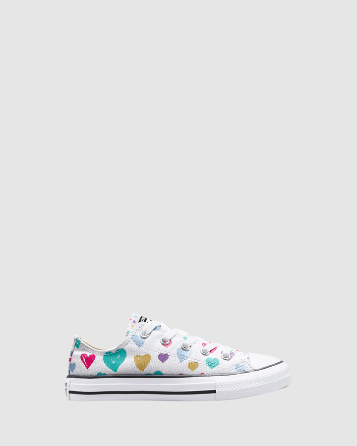 Shoes and Sox Ct As Hearts Yth G White Multi