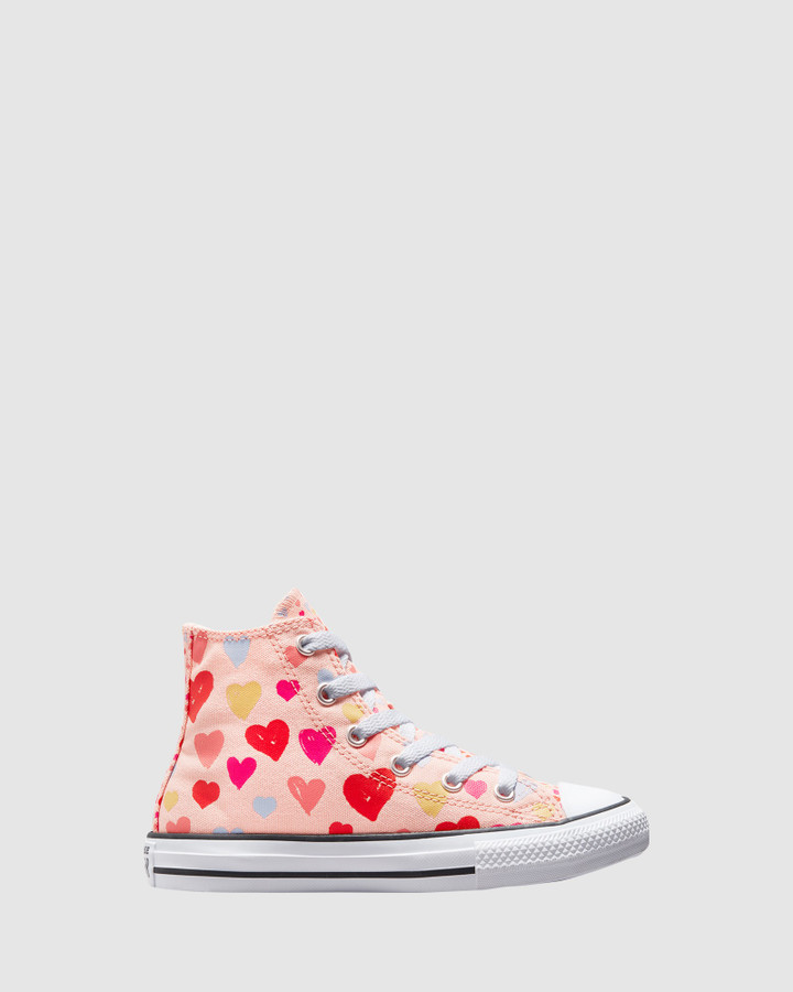 Shoes and Sox Ct As Hi Hearts Yth G Pink Multi