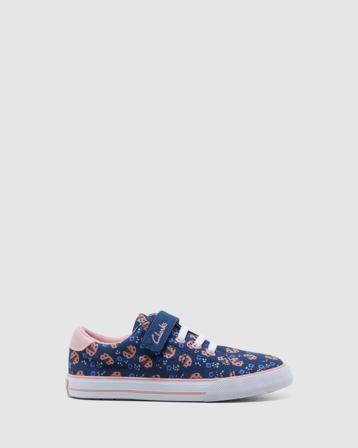 Shoes and Sox Leah Navy/Musk Ladybug