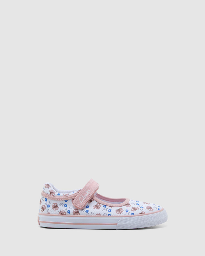 Shoes and Sox Lizzie White/Musk Ladybug