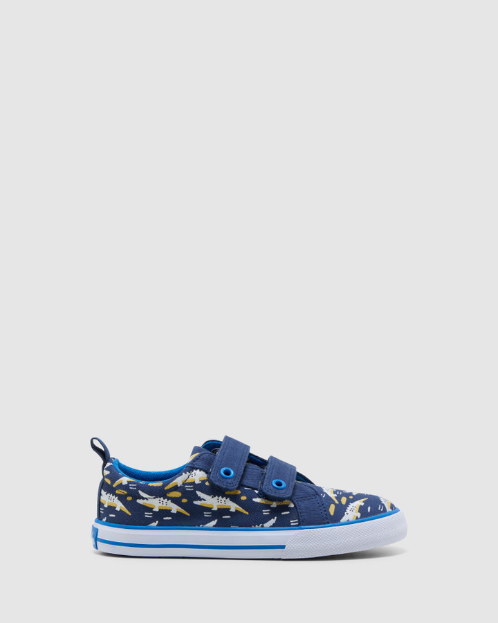 Shoes and Sox Luke Navy/Blue Croc
