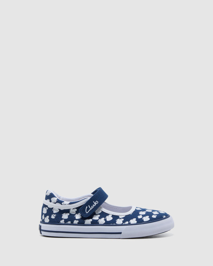 Shoes and Sox Lizzie Navy/White Butterfly