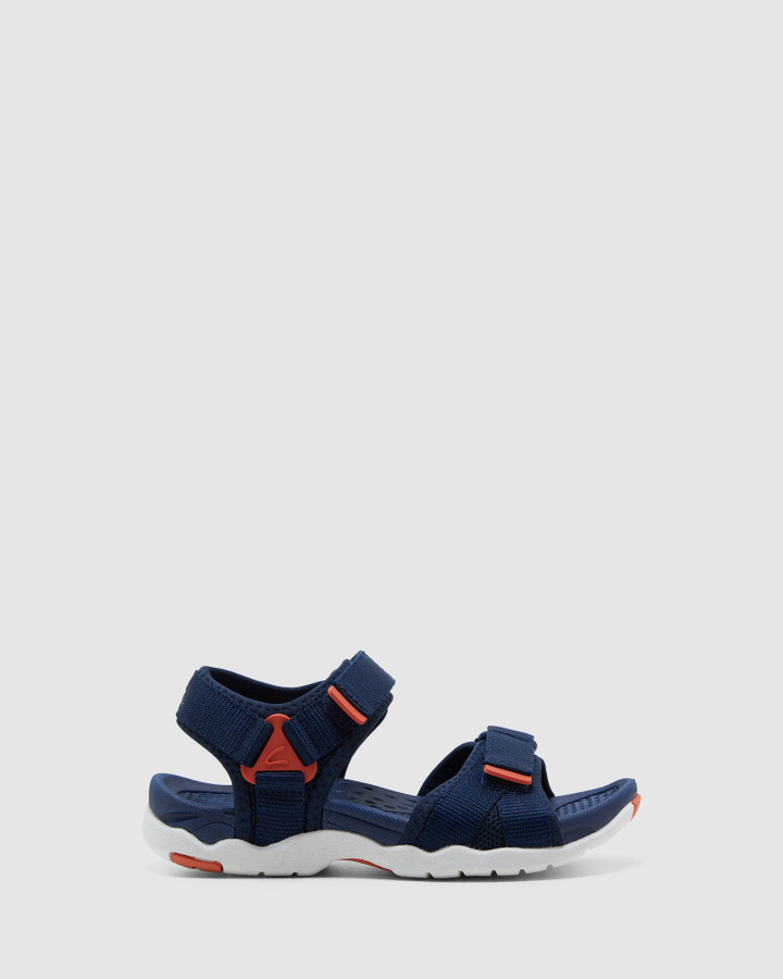Shoes and Sox Theo Navy/Tangerine