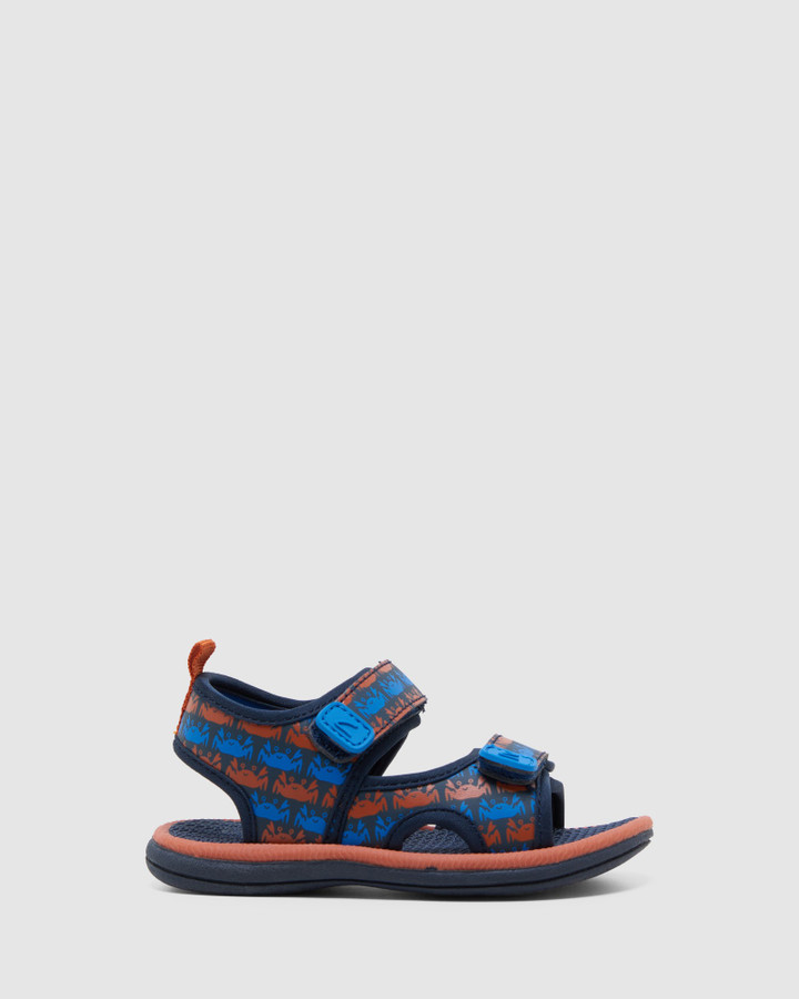 Shoes and Sox Fisher Navy/Tangerine