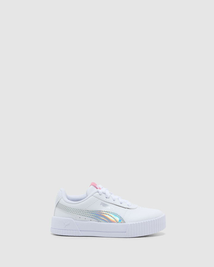 Shoes and Sox Carina Rainbow Ps G White/Silver
