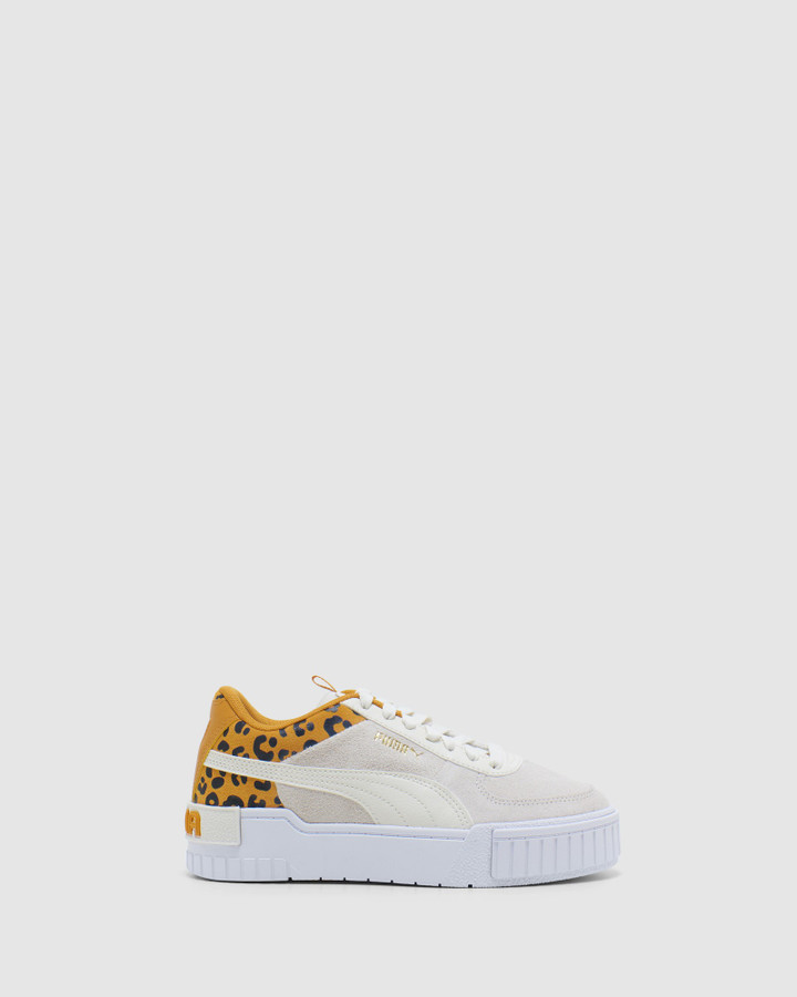Shoes and Sox Cali Roar Gs G Ivory/Leopard