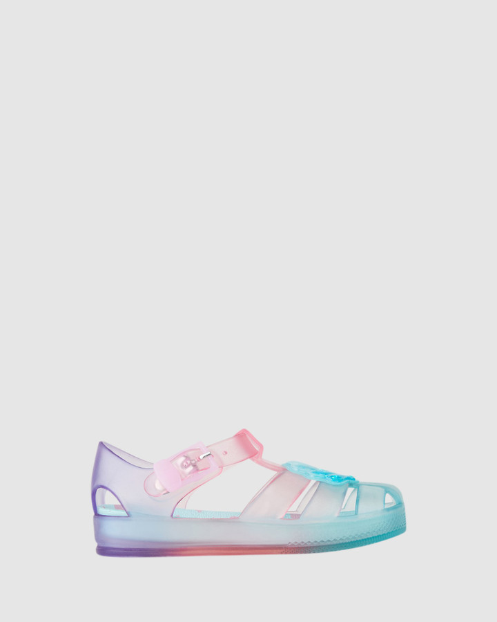 Shoes and Sox Kiddo Seashell Jellies Turquoise Multi