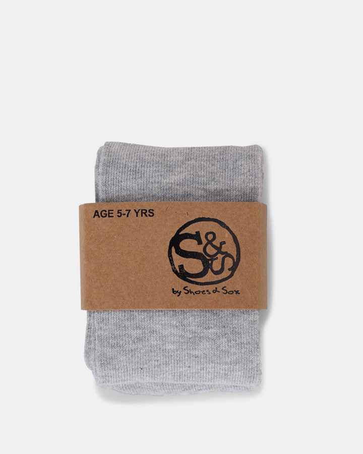Shoes and Sox Cotton Tights  Light Grey