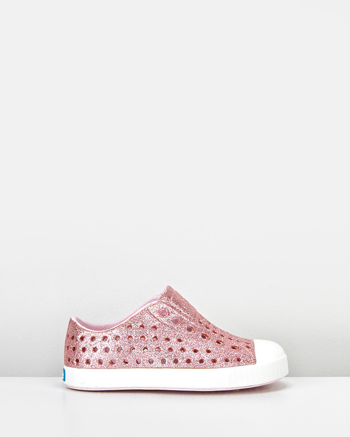 Shoes and Sox Jefferson Bling G Inf Pink Glitter