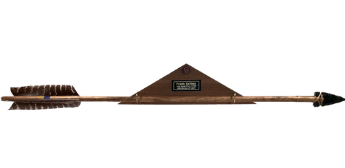 Our plaque comes with a flush hanger so you can put your Scout on display!