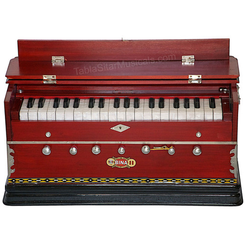 BINA No. 11 Harmonium, 2 Reeds, 3.25 Octaves, 7 Stops, Coupler, Multifold Bellows - 176
