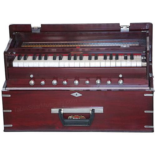 BINA No. 23B Deluxe Harmonium, 3.5 Octaves, Folding, Coupler, Rosewood Color - 178