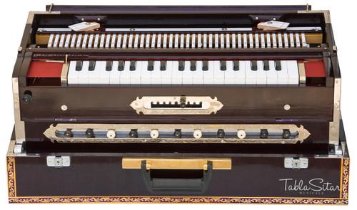 Paul & Co. Harmonium - 3 Reeds, 9 Scale Changer, Dark Mahogany Color