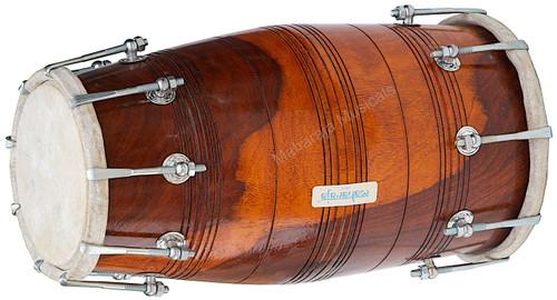 MAHARAJA MUSICALS Dholak/Dholki, Sheesham Wood, Bolt Tuned, Bag - No. 129