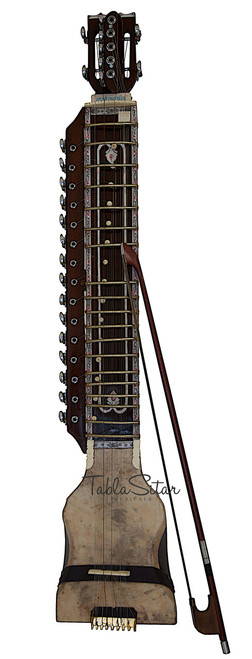 MAHARAJA MUSICALS Special Tun Wood Dilruba, Horse Hair Bow - No. 233