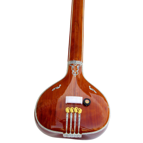 MKS Tanpura, Male, 4 Strings, Natural, Fiber Trolly