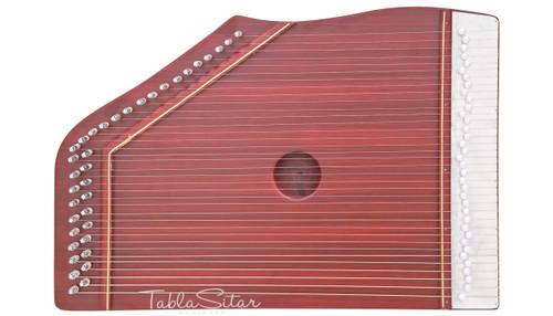 MAHARAJA MUSICALS Professional Swarmandal, Dark Color, 36 Strings - No. 62