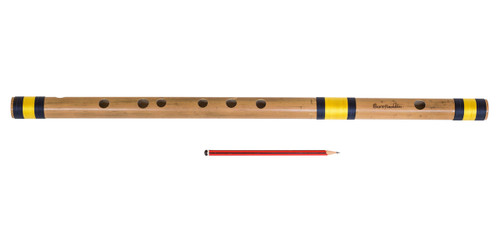 buy Sarfuddin Flutes Concert, Scale A Sharp Bass 21.5 inches, FINEST Indian Bansuri, Bamboo Flute, Hindustani