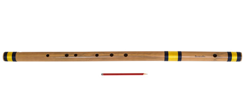 buy Sarfuddin Flutes Concert, Scale D Natural Bass 33.5 inches, FINEST Indian Bansuri, Bamboo Flute, Hindustani for sale