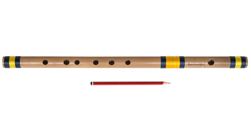 buy Sarfuddin Flutes Concert, Scale E Natural Bass 29.5 inches, FINEST Indian Bansuri, Bamboo Flute, Hindustani for sale