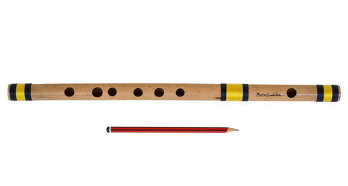 buy Sarfuddin Flutes Concert, Scale E Natural Medium 16 inches, FINEST Indian Bansuri, Bamboo Flute, Hindustani for sale