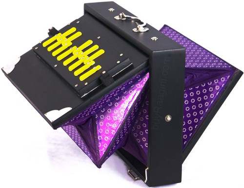 MAHARAJA MUSICALS Concert Shruti Box, Black Color - No. 248 (With Bag)