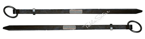 MAHARAJA MUSICALS Professional Steel Plain Chimta/Chimpta Pair, Musical Fire Tongs  - No. 429