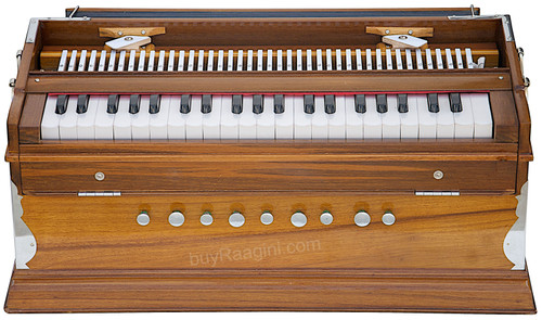 Monoj K Sardar  2 Reeds, A440, Natural Color, Teak Wood Harmonium No. 412