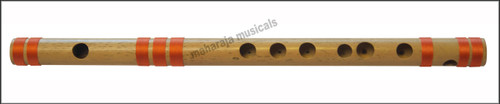 MAHARAJA Concert, Scale A Natural Medium 11 Inches, Finest Indian Bansuri, Bamboo Flute, Hindustani - No. 352