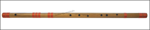 MAHARAJA Concert, Scale C Natural Bass 35 Inches, Finest Indian Bansuri, Bamboo Flute, Hindustani - No. 357