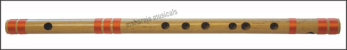 MAHARAJA Concert, Scale D Natural Medium 17 Inches, Finest Indian Bansuri, Bamboo Flute, Hindustani - No. 364