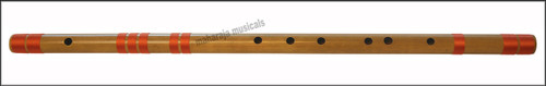 MAHARAJA Concert, Scale D Sharp Bass 30.5 Inches, Finest Indian Bansuri, Bamboo Flute, Hindustani - No. 365