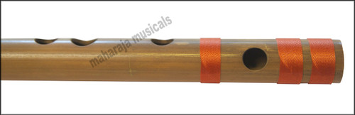 MAHARAJA Concert, Scale D Sharp Medium 16.5 Inches, Finest Indian Bansuri, Bamboo Flute, Hindustani - No. 366