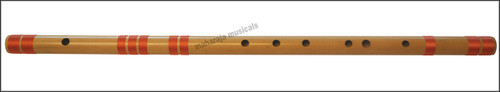 MAHARAJA Concert, Scale E Natural Medium 16 Inches, Finest Indian Bansuri, Bamboo Flute, Hindustani - No. 368