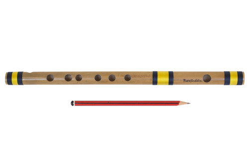 Sarfuddin Flutes Concert, Scale G Sharp Medium 13.2 inches, FINEST Indian Bansuri, Bamboo Flute, Hindustani - No. 476