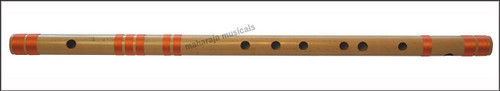 MAHARAJA Concert, Scale G Natural Bass 25.5 Inches, Finest Indian Bansuri, Bamboo Flute, Hindustani - No. 373