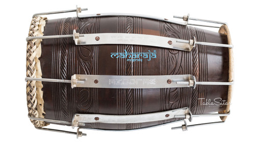 MAHARAJA MUSICALS Professional Mango Naal, Natural Color, Bolt tuned, Bag - No. 630