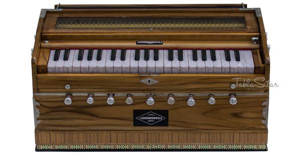 HARMONIUMWALA Harmonium No. 76 - 9 Stop, TeakWood, Concert, A440, 42 Keys, With Coupler