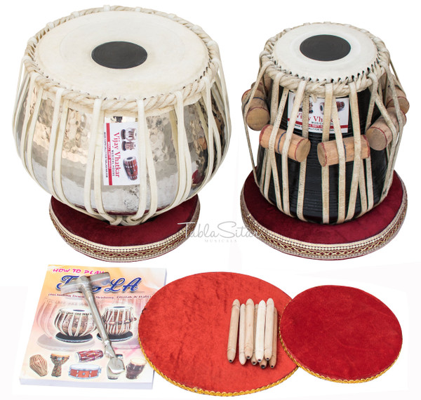 Vhatkar Tabla Set, 4 Kg Chromed Copper Bayan