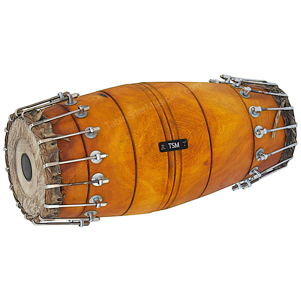 SWARAJATHI Mridangam, Jackfruit Wood, Bolt-tuned South Indian Drum - No. 229