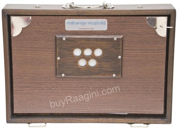 MAHARAJA MUSICALS Concert Shruti Box, Walnut Color - No. 618 (With Bag)