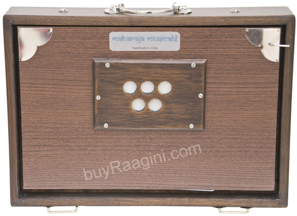 MAHARAJA MUSICALS Concert Shruti Box, Walnut Color - No. 618 (With Bag)