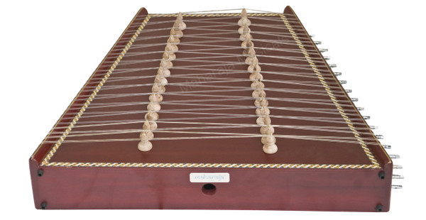 MAHARAJA MUSICALS Classical Indian Santoor/Santur - No. 39, (Mahogany Colour, Box, 93 Strings)