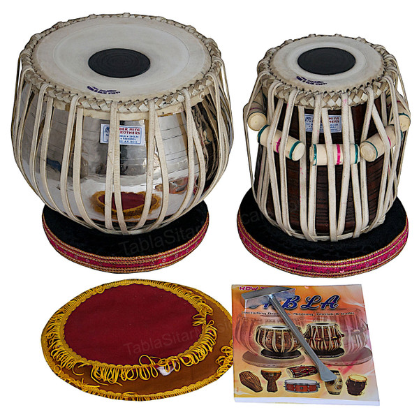 AKBAR MIAN & BROS Standard Brass Tabla Set 2.5 KG
