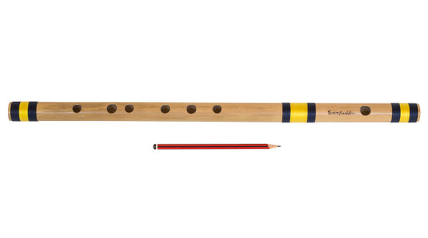 Sarfuddin Flutes Concert, Scale B Natural Medium 10 inches, FINEST Indian Bansuri, Bamboo Flute, Hindustani- No. 456