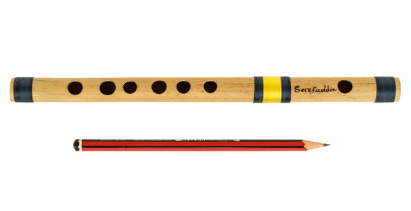 buy Sarfuddin Flutes Concert, Scale C Natural Small 9.5 inches, FINEST Indian Bansuri, Bamboo Flute, Hindustani for sale
