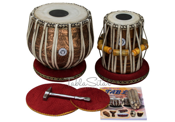 buy Special Designer Copper Tabla Drum Set, 3.5 KG for sale