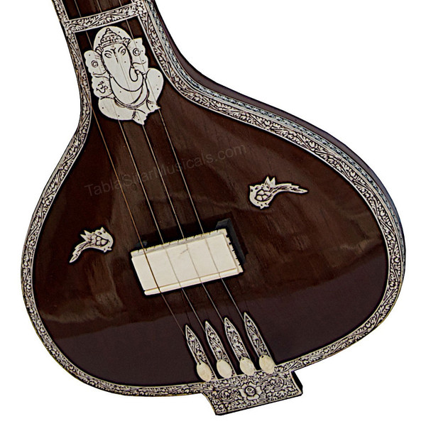 Monoj K Sardar MKS Om Tanpuri, 4 Strings - No. 384 (Flat Instrumental Tanpura/Tambura)