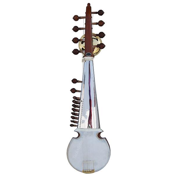 Kanai Lal & Sons Double Toomba Sarod - Tun Wood -  Ali Akbar Khan Style - Chrome Plated Brass Toomba - No. 424