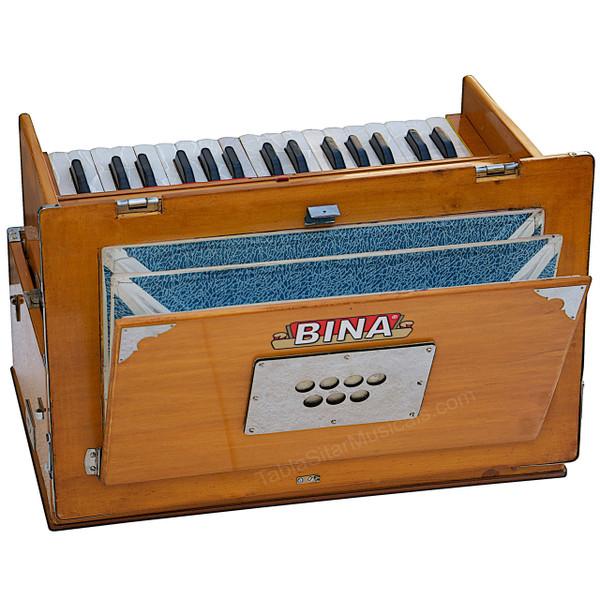 BINA No. 23B Deluxe Harmonium, 2.5 Octaves, Folding, Small - 411